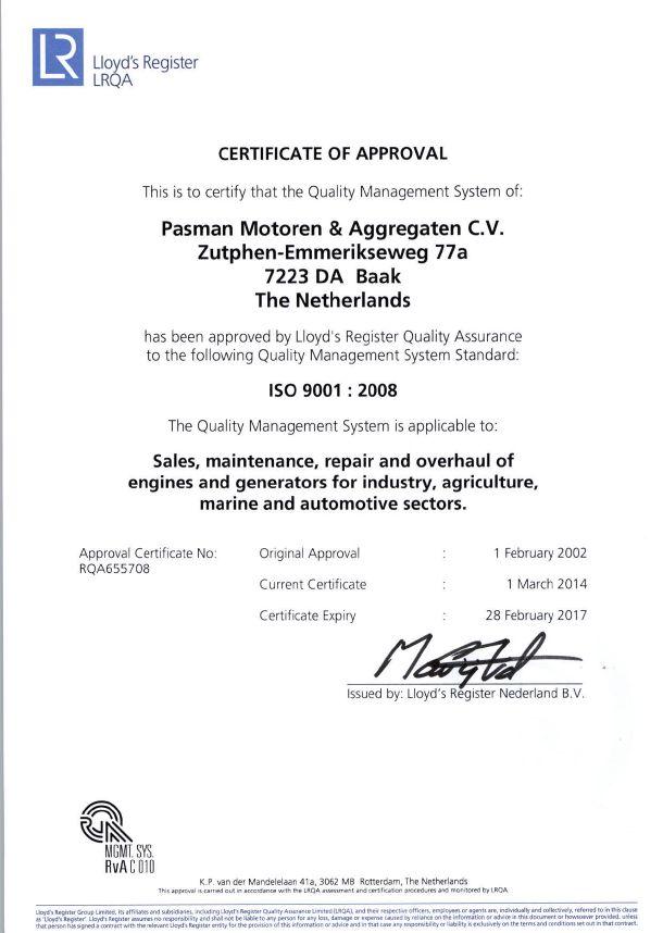 ISO-certificaat.
