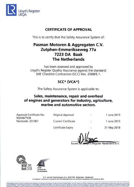 VCA-certificaat.