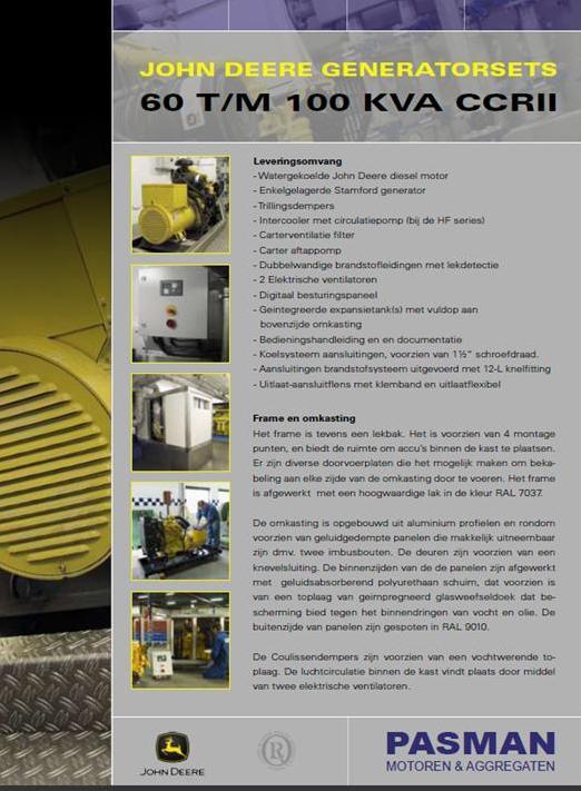 John Deere generatorsets klantspecifiek