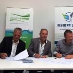 Oryon Watermill waterschap handtekening