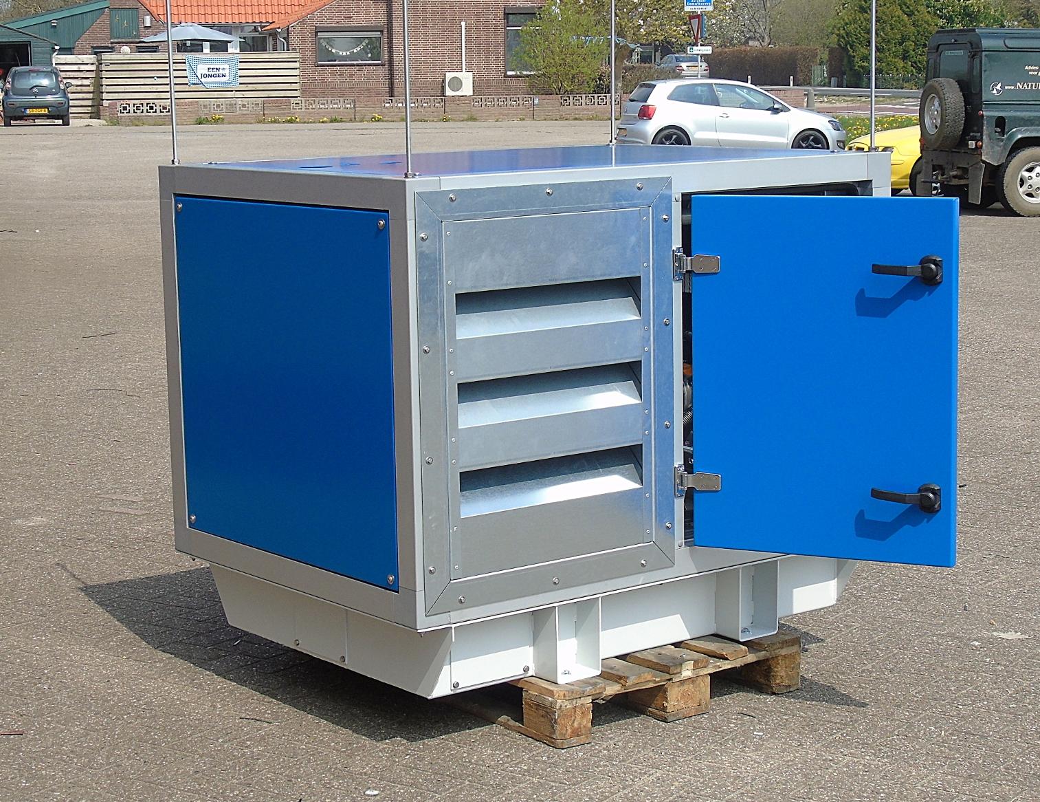 Hydropack in de geluidsarme Pasman-omkasting.