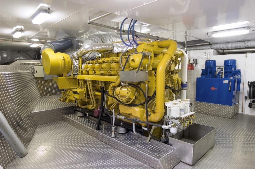 Scheepvaart Caterpillar motor